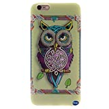 Iphone 6 Case,iphone 6 TPU Case,nancy's Shop **New** Fashion Pattern Design [Ultra Slim] [Perfect Fit] [Scratch Resistant] Premium TPU Gel Rubber Soft Skin Silicone Protective Case Cover for Iphone 6 (4.7)(not for Iphone 6 Plus) (Single Owl Pattern)