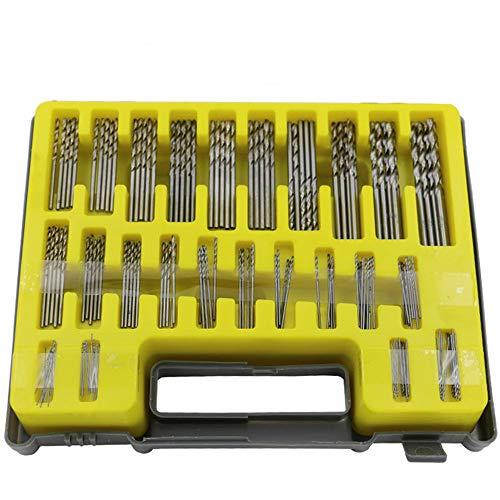 - 150pcs Micro Twist Drill Bit Kit KangTeer 24 Sizes 0.4-3.2mm Hss Titanium Plated Drill Bits HSS Woodworking Wood Metal Drilling Tool