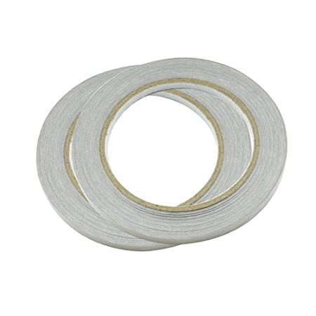 x 20m Double Conductors Interference Suppression Shielding Isolation Electromagnetic Radiation Protection Repair Plain Conductive Cloth Fabric Adhesive Tape - 2 Pcs Width Length HONJIE 5mm