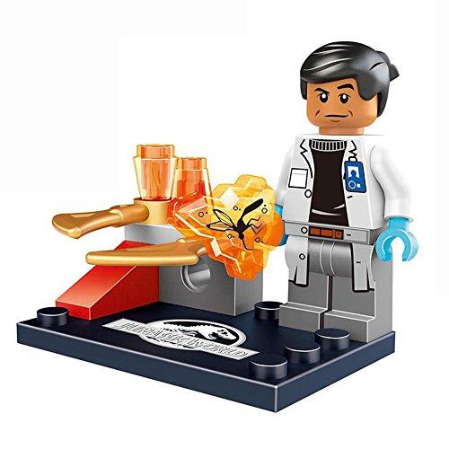 8pcs Jurassic World Character Minifigures Building Block Figures Classic Toys Movie Bricks Minifigures Collection
