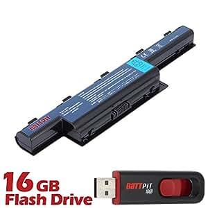 Battpit Bateria de repuesto para portátiles eMachines D442-V264 (4400mah / 48wh) Con memoria USB de 16GB GRATUITA