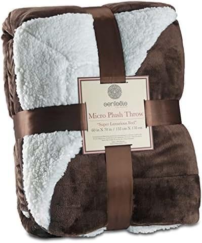 Genteele Sherpa Throw Blanket Ultra Soft Super Luxurious Warm Blanket, 60