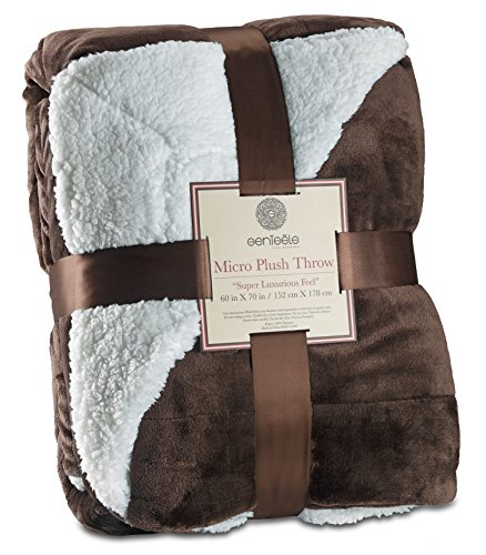 - Genteele Sherpa Throw Blanket Ultra Soft Super Luxurious Warm Blanket, 60