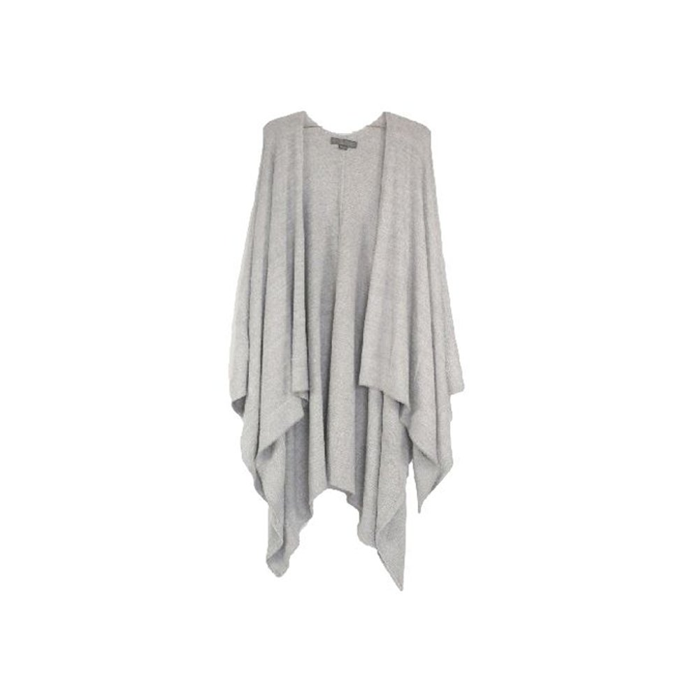 Barefootdreams Bamboo Chic Lite Weekend Wrap, Color: Pewter/pearl, Pewter/Pearl, One Size