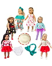 DSHFNsd 11pc American girsl Doll Clothes 18 inch Doll Clothes American girsl Doll Accessories ,American girsl Doll Clothes,American girsl Doll Accessories and Clothes
