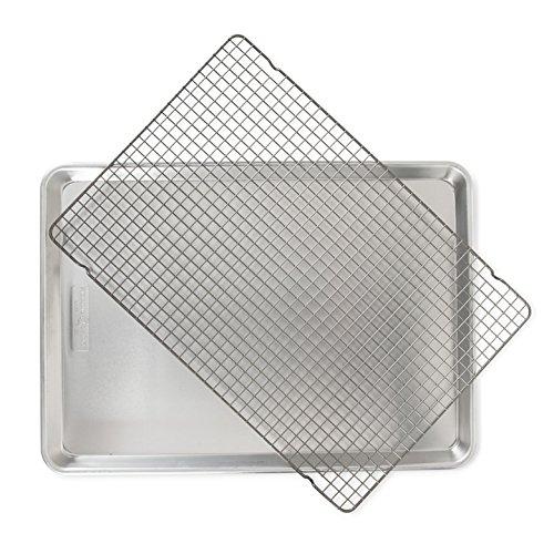 Nordic Ware 44612 2 Pc Naturals Big Sheet W/Oven Safe Nonstick Grid, 2-Piece Set, Aluminum