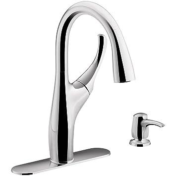 kohler mazz single handle pull down sprayer kitchen faucet in rh amazon com