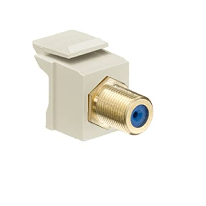 Leviton 40831 BI QuickPort F Type Adapter Gold Plated Ivory