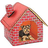 Cama portátil de ladrillo para mascotas, mascotas, gatos, diseñado para perros y gatos pequeños