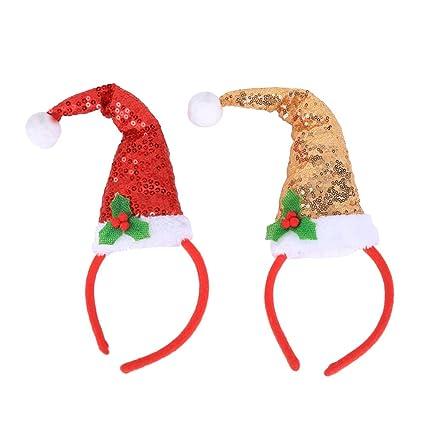 BESTOYARD 2 Piezas de Adornos navideños con Adornos para el Pelo con  Lentejuelas ea68809aa18