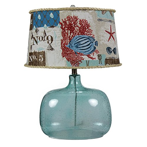 A Homestead Shoppe Spa Glass Table Lamp -