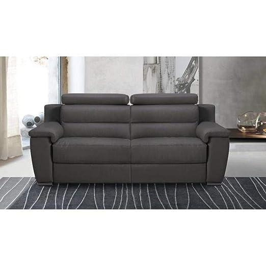 ITALIAN SPIRIT Relaxo sofá 3 plazas Relax eléctrico, Piel o ...