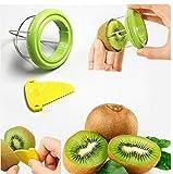 Drhob Vegetable Fruit Peeled Kiwi Cutter Twister Slicer Kitchen Peeler Divider Kitchen Fruit Tools Fruit Corers Separator Tools