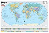 Cool Owl Maps 2018 World Political Wall Map Robinson Projection Education - Rolled Paper (36''x24'')