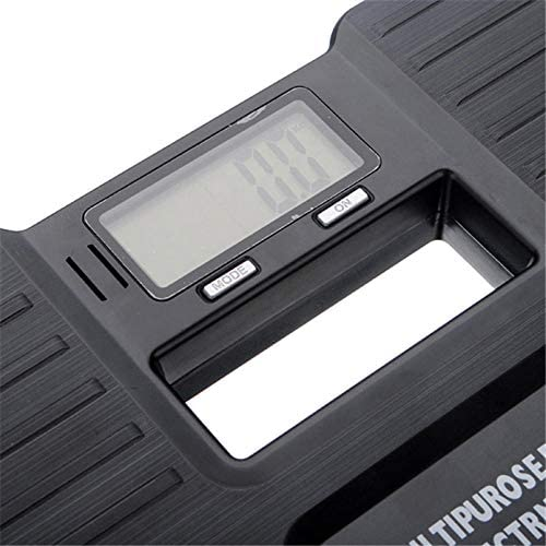 PRWJH Digital Bathroom Scale, On/Tare Function Body Weight Electronic Digital Bathroom Scales, Max 150kg Black
