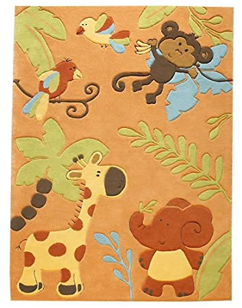 Kinderteppich Teppich Zoo, Farbe orange, 120x180: Amazon.de: Küche ...