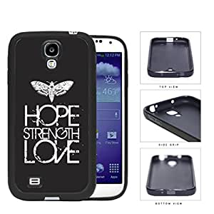 Butterfly Hope Strength Love Eroding Rubber Silicone TPU Cell Phone Case Samsung Galaxy S4 SIV I9500 by icecream design