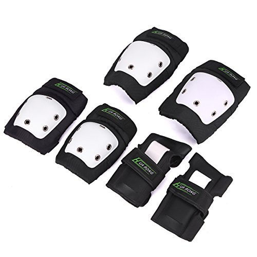 3 in 1 Knee Pads Elbow Pads Wrist Guards Set For Skateboarding Inline Skate Roller Skating Cycling Biking Elbow Knee Wrist Protective Gear for Adult / Child