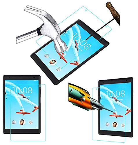Acm Tempered Glass Screenguard Compatible with Lenovo Tab 4 8 Plus Screen Guard Scratch Protector