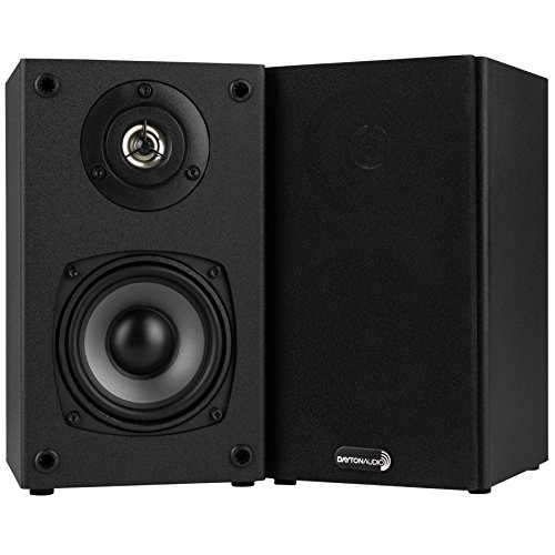 Dayton Audio B452 4-1/2″ 2-Way Bookshelf Speaker Pair (Black)