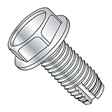 "Steel Thread Cutting Screw, Zinc Plated Finish, Hex Washer Head, Type 1, 1/4""-20 Thread Size, 5/8"" Length (Pack of 50)"