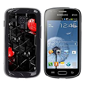 Exotic-Star ( Abstract Grid ) Fundas Cover Cubre Hard Case Cover para Samsung Galaxy S Duos / S7562