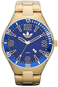 Adidas Gents Gold Tone Melbourne Watch with Blue Dial