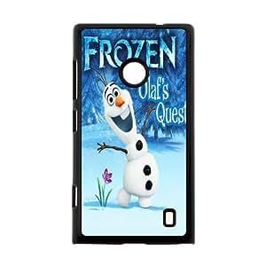 Hot Cartoon Movie Frozen Hard Plastic Back Protective Case for Nokia Lumia 520 FC-7