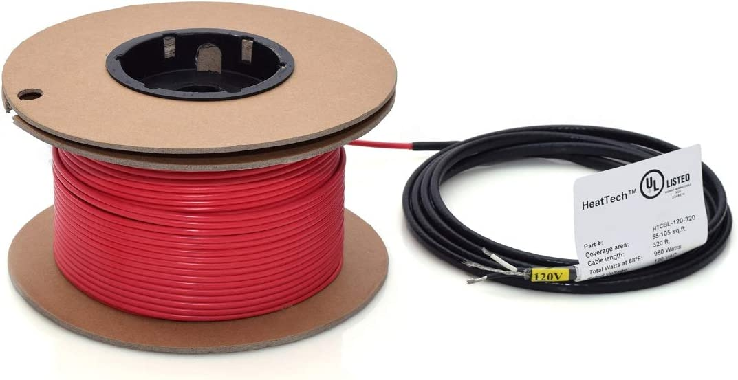 HeatTech 10-20 2021 spring and summer new sqft Electric Radiant Syst Cable Heating In-Floor Now free shipping