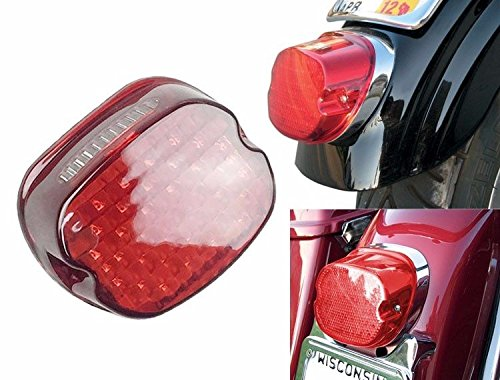 LED Red Tail Brake Light Low Profile for Harley Dyna Road...