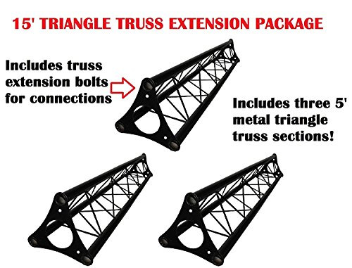 3x 5ft Lighting Triangle Bolted Truss 15' span Stand Universal DJ Metal 5' NEW by Cedarslink