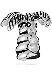 CHARMED BEADS Sterling Silver Palm Tree Bead Charm