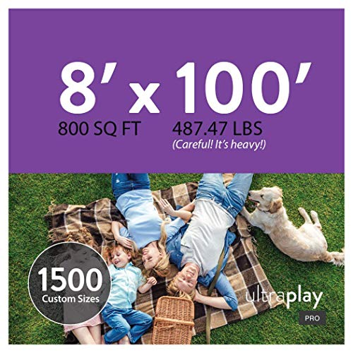 UltraHedge 8 x 100 Ft UltraPlay Pro Artificial Grass for Pet Kids Playground and Parks Outdoor Yard Runner Rug Carpet | 800 SqFt | 1.25