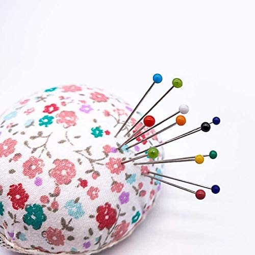 Red Black White Orange Green Blue Multicolor Sewing Pins,Colorful Round Pearl Head Pins 500pcs for Dressmaker Jewelry Craft Decoration Long 38mm