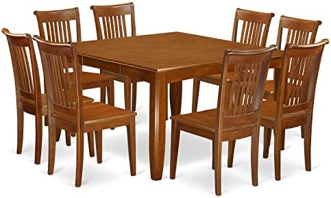 Amazon.com: 9 Pc Dining Room Set For 8-Kitchen Table With Leaf And 8 Dinette Chairs.: Furniture & Decor