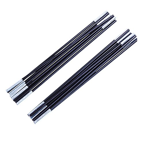 WINOMO 2Pcs Single Tent Fiberglass Tent Pole Kit Replacement Kit (Pole Section Replacement)