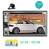Free Rear Camera + Fully Featured Android 7.1 OS GPS Navigator CD/DVD Player Double Din Universal Standard car Stereo Systrem FM/AM Radio Video Player support Wifi Web Surfing Mirrorlink/Airplay