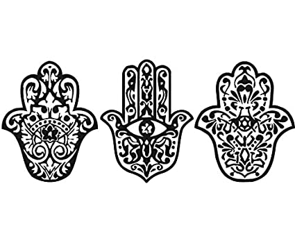 Mano Etiquetas de la pared Yoga Fátima Hamsa Indian Buda Ganesh para Lotus  vinilo adhesivo dormitorio fc7ca729b668