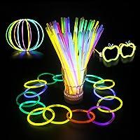Coohole New 100 Light up Toys Glow Stick Bracelets Mixed Colors Party Favors Supplies