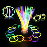 Coohole New 100 Light up Toys Glow Stick Bracelets Mixed Colors Party Favors Supplies