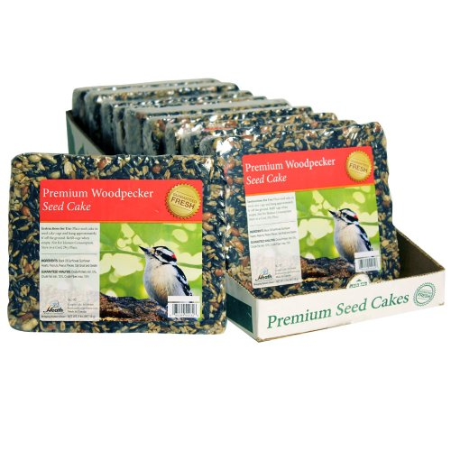 Heath Outdoor Products SC-32 2-Pound Premium Woodpecker Seed Cake, 10-Pack (Cake Woodpecker)