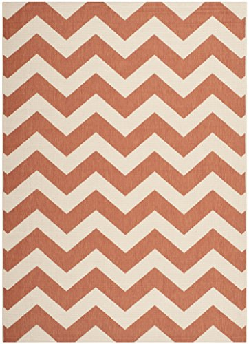 Safavieh Courtyard Collection CY6244-241 Terracotta and Beige