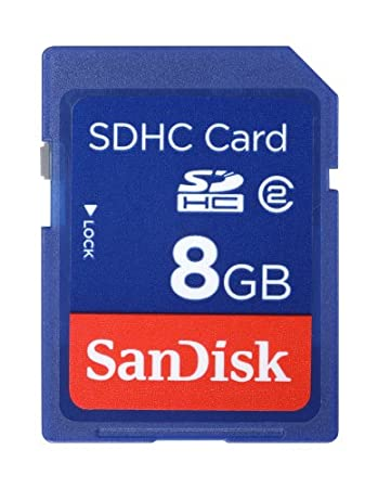 SanDisk 8 GB Class 2 SDHC Flash Memory Card SDSDB-008G-A14F