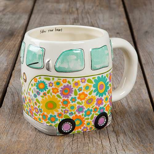 Natural Life Van Folk Art Mug Set of Two(2)