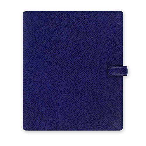 Filofax Finsbury A5 Leather Organizer Agenda Diary Electric Blue 2016 + 2017 Calendar with DiLoro Jot Pad Refill 022500