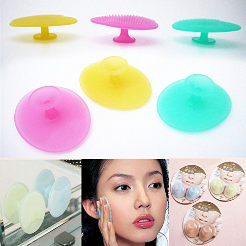 MSmask Facial Face Brush Cleansing Pad Oval Blackhead Remover Magic Soft Silicone Friction Pad Face Skin - Face Oval Type