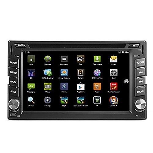 OUKU 6.2 inch Android Double Din In Dash HD Multi-touch Screen Car DVD Player GPS Navigation Stereo AM/FM Radio Support Bluetooth/SD/USB/ipod/AV-IN/OBD2/3G/Wifi/DVR (Ouku Double Din Car Stereo)