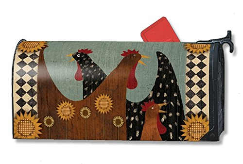 Morning Chatter Rooster LARGE MailWraps Magnetic Cover (Rooster Mailbox Cover)