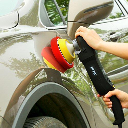 SPTA 5Pcs 7''/180mm Compound Buffing Sponge Pads Polishing Pads Kit Buffing Pad For Car Buffer Polisher Sanding,Polishing, Waxing by SPTA (Image #8)