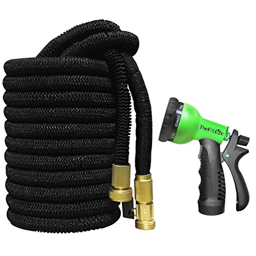 Thefitlife Flexible Expandable Garden Hose 25 50 75 100 Ft With Strongest Triple Core Latex